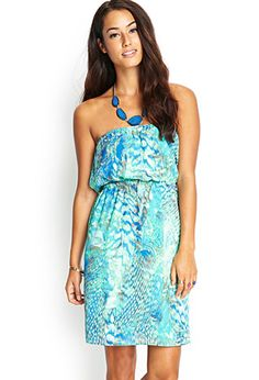 Strapless Abstract Dress | FOREVER21 - 2000060840