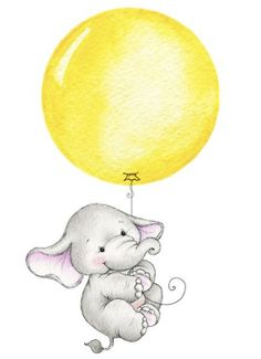 DIY Baby Elefant mit gelbem Ballon A Healthy Guide to Good Nutrition Whether you are at your ideal w Baby Elephant Drawing, Elephant Sketch, Elephant Illustration, Cute Illustration, Balloon Illustration, Image Elephant, Elephant Art, Cute Elephant, Elephant Balloon