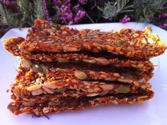 Raw Food Recipes - Crispy Mexican Vegetable Crackers (Raw Gluten Free)