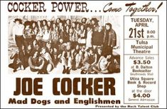Leon Russell Concert Poster Mad Dogs and Englishmen Concert Poster Joe Cocker Concert Poster Rock Posters, Band Posters, Concert Posters, Music Posters, Hippie Posters, Leon Russell, Joe Cocker, Soul Singers, Blue Poster