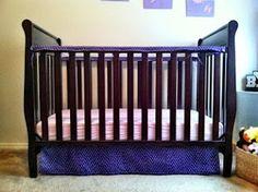 We Like to Learn as We Go!: Simple Crib Skirt Tutorial