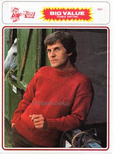 M7029  Mens sweater / jumper, crew neck