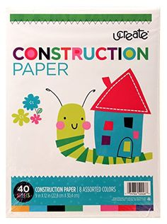 UCreate Construction Paper 9 x 12 Inches Assorted Colors 40 Sheets 642 >>> Check out the image by visiting the link.-It is an affiliate link to Amazon.