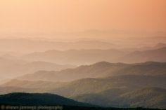 Sunrise on the Blue Ridge Parkway.