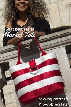 Seat Belt Series: Lux Market Tote Bag Pattern + Kits