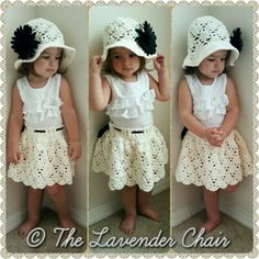 Vintage Skirt Infant to Child- Free Crochet Pattern -The Lavender Chair
