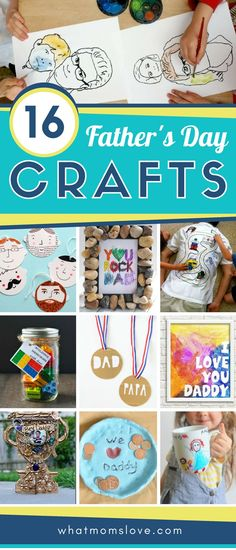 Fathers Day Crafts For Kids To Make | Easy DIY craft ideas for Dad or Grandpa that make great homemade gifts from your toddlers, preschoolers or big kids #craft #fathersday #fathersdaycrafts