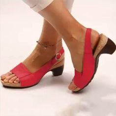 Strap Heels, Strap Sandals, Pumps Heels, Wedge Sandals, High Heels, Summer Sandals, Low Wedge Shoes, Summer Shoes, Shoes Sandals
