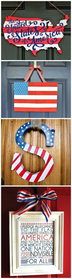 DIY American Door Decor for Fourth of July