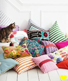 i collect pillows, most of them are piled in the corner and i sit or lay on them while i read