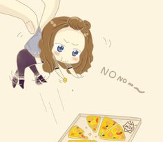 Yoong and Pizza fanart by MILK #lol #yoona