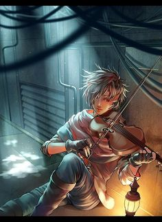 I keep seeing this illustration and I really want to write a violin story now :P (Illustration by Roka)
