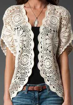 Como Usar Blusas de Croche: Fotos, Modelos, Dicas