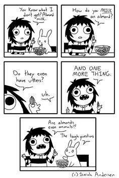 Almond Milk Image Sarah Anderson Comics Cartoon Memes Funny Memes Funny Cartoons