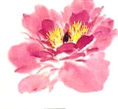 Le pivoine en peinture chinoise xieyi, la fleur étape 3