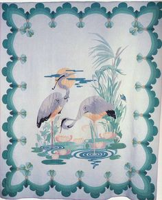 The Cranes, 1934. Made by Hannah Haynes Headlee. Topeka, Kansas.