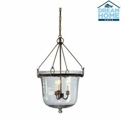 Substantial and dramatic, this pendant blends iconic shape and modern sensibility by taking a hand-blown Indian glass garden cloche, inverting it, and hanging it from an iron frame. The oil-rubbed bronze finish is the ideal finishing touch.