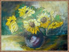 Napraforgók2 Anna, Painting, Painting Art, Paintings, Painted Canvas, Drawings