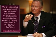 Jon Voight on Obama's hand on America   America!!!! Are You Paying Attention????