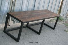 Modern/Vintage Industrial Style Bench. Steel and von leecowen