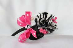 """Funky-Fancy-Fun Headband in """"Wildly Cute"""" visit www.facebook.com/MandMintheMirror or contact me directly Jodig1223@aol.com"""