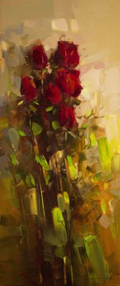 Bouquet of Roses Contemporary Fine Art Original oil Painting One of a kind