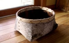 How to Make a Birch Bark Basket - I remember doing this with my grandma... I miss her.