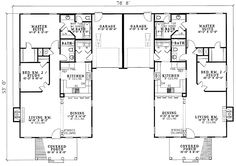 duplex floor plan