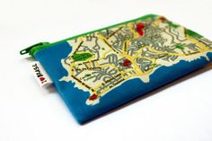 BRASIL map wallet  Souvenir from Rio and Salvador  by efratul, $10.00
