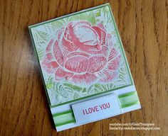 """The Darby Creek Diaries: How to Make an Easy Watercolor-ish Embossed Rose Card """"Derby Week"""" Tribute!"""