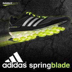 sneakers for cheap 2d973 f94f9 adidas Springblade Men Black Electricity at holabirdsports.com