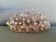 Freshwater pearl and crystal tiara