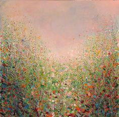 Sandy Dooley :: Meadow - Acrylic on canvas - 60cmx60cm