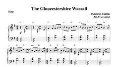 $1.50 Harp Music: Gloucestershire Wassail for Harp