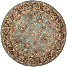 Add a designer flair to your home with this wool traditional area rug featuring a lovely Oriental design that will coordinate well in many home interiors. A cotton canvas back provides durability, while the vibrant colors will match many homes.