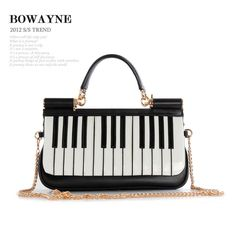bag rice on sale at reasonable prices, buy Bowayne fashion piano keys genuine leather women's handbag first layer of cowhide small fresh bag handbag messenger bag from mobile site on Aliexpress Now! Hobo Purses, Purses And Bags, Sacs Design, Novelty Bags, Music Items, Music Jewelry, Piano Keys, Music Gifts, Purses For Sale