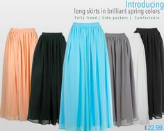 Fully lined and with side pockets! #Modest #Skirts