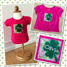St Patty's Day shirt for my sweet girl!