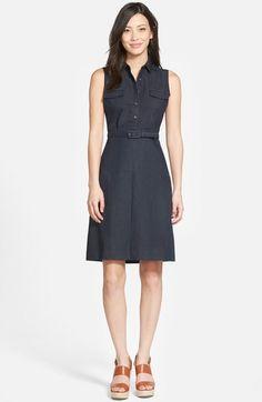 Halogen® Belted Sleeveless Shirtdress (Regular & Petite) available at #Nordstrom