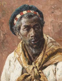 Mariano Jose Maria Bernardo Fortuny y Carbo (Spanish, 1838-1874), Moroccan Sailor, oil on canvas, signed Fortuny (center right) 22 x 16 1/2 inches.