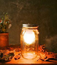 Luke Lamp Co mason jar lamp on sale at Huckberry this week. $50