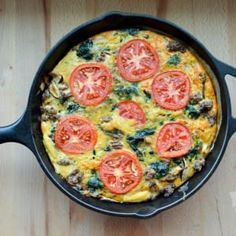 Hearty Spinach Beef Frittata   stupideasypaleo.com