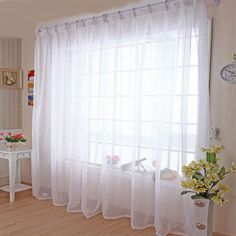 キッチンチュールカーテン半透明な現代ホームウィンドウデコレーションホワイト薄手ボイルカーテン用リビングルームシングルパネルb502
