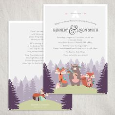 Adventure awaits with this adorable baby shower invitaiton! Featuring a teepee with cute tribal animals, change the colors and wording to make this invitaiton special for your occasion!