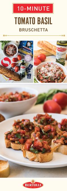 Nothing beats a classic—especially when it's this recipe for 10-Minute Tomato Basil Bruschetta. Starting with a toasted baguette base, this traditional combination of Italian-style ingredients like Bertolli® Extra Virgin Olive Oil, fresh tomatoes, basil, onion, garlic, & balsamic vinegar will fill any get-together with some much-needed flavor! This spring, head over to your local Albertsons or Safeway store to find all the ingredients you'll need and to participate in the 2018 Monopoly…