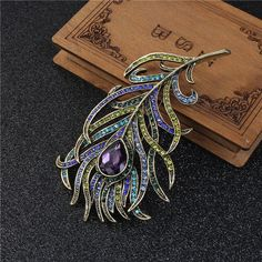 Pin Brooches Peacock Feather Antique Bronze Multicolor Rhinestone Cheap Brooches - Buy Cheap Brooches,Peacock Feather Brooch,Brooches Product on Alibaba.com