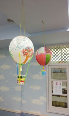 Arts and Crafts Projects Children Kids Kindergarten Preschool Elementary School Hot Air Ball .Arts and crafts projects children kids kindergarten preschool elementary school hot air balloon paper cups, straws, balloons, markers or paint, tape and Balloon Crafts Preschool, Hot Air Balloon Craft For Kids, Hot Air Balloon Paper, Crafts With Balloons, Train Crafts, Boat Crafts, Airplane Crafts, Craft Projects For Kids, Arts And Crafts Projects