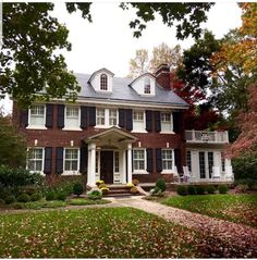 914 Likes, 7 Comments - Upcountry Living Colonial House Exteriors, Colonial Exterior, Federal Style House, Georgian Homes, English House, House Goals, Restaurant, House Floor Plans, Traditional House