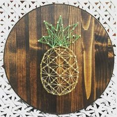 Guess what is this pineapple made of? Yes, it's string art! #DIY #craft #stringart #crafts #pineapple #handmade via http://pin.it/9Uo_4B9