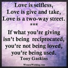 Love is a two way street